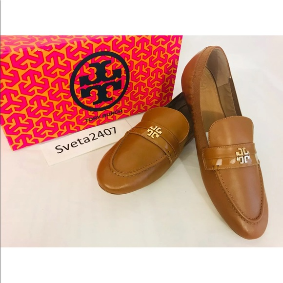 Tory Burch Shoes - Tory Burch Jolie Soft Leather Elastic Tan Loafers